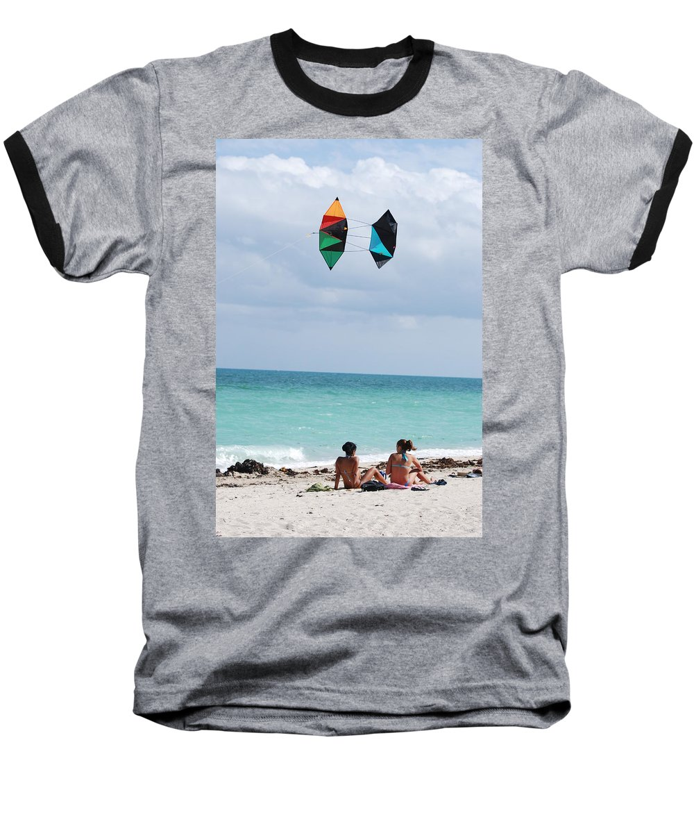 Sea Scape Baseball T-Shirt featuring the photograph Close Encounters by Rob Hans