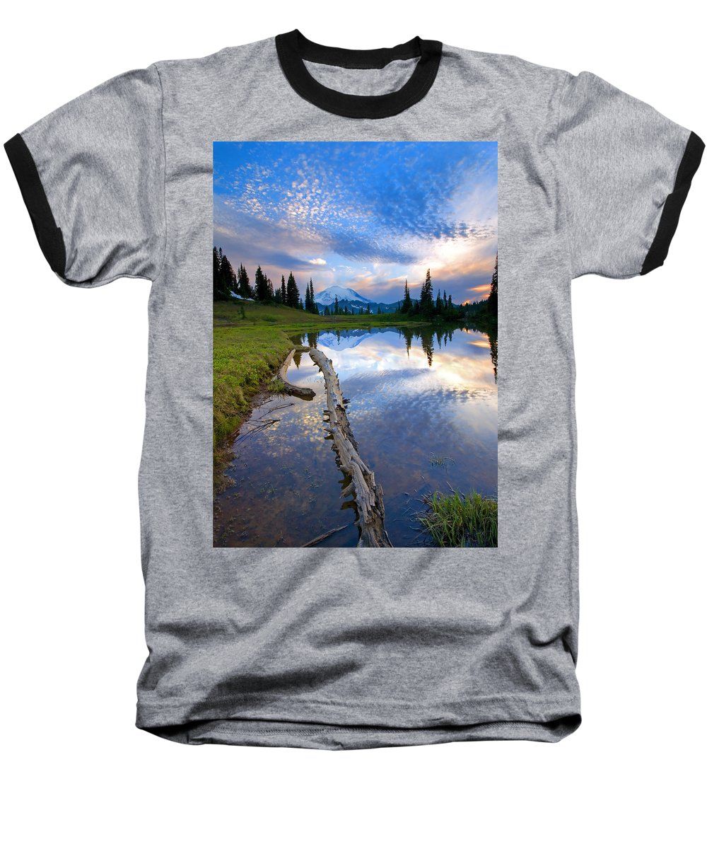 Landscape Baseball T-Shirt featuring the photograph Cloud Explosion by Mike Dawson