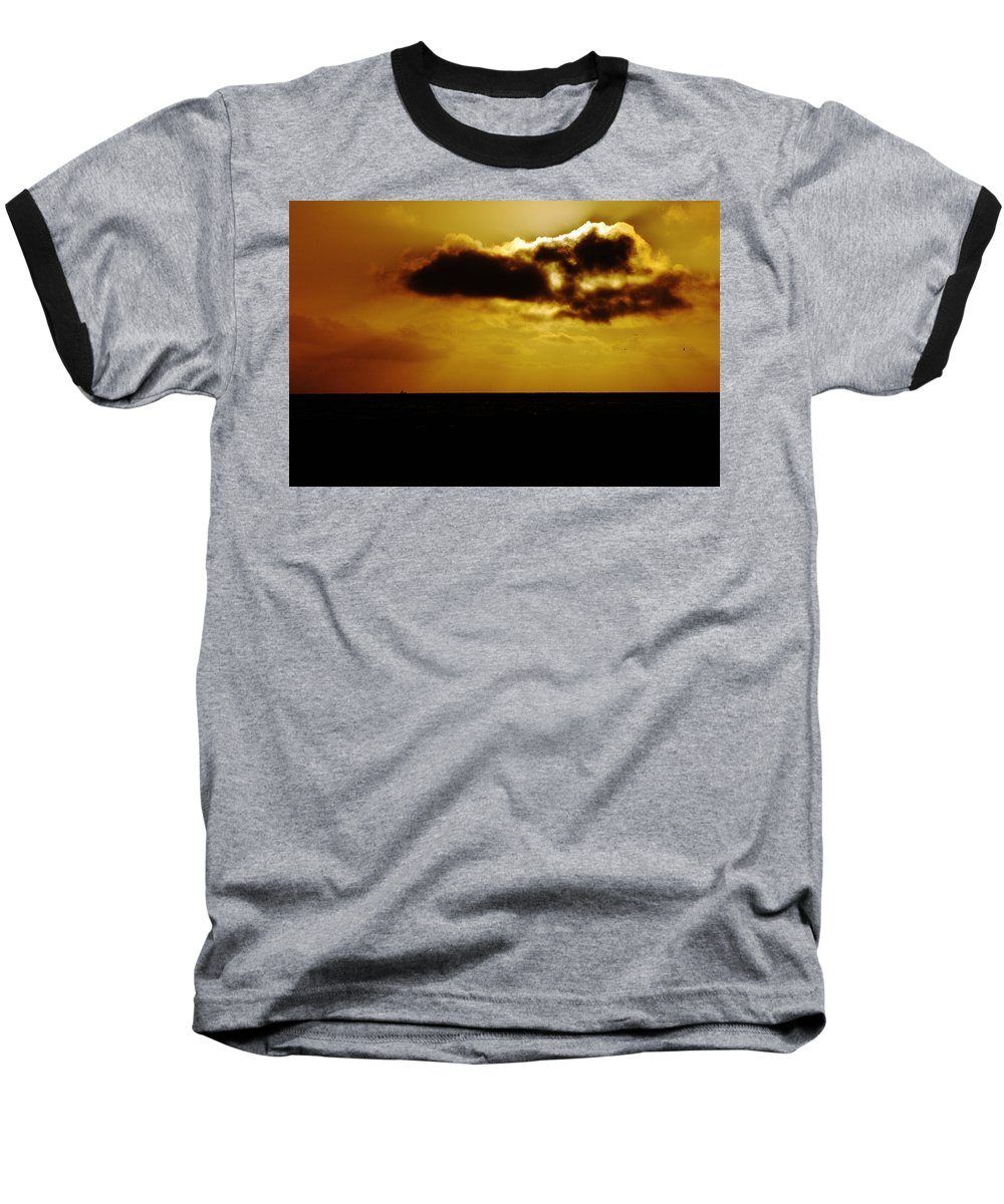 Clay Baseball T-Shirt featuring the photograph Clouds Over The Ocean by Clayton Bruster