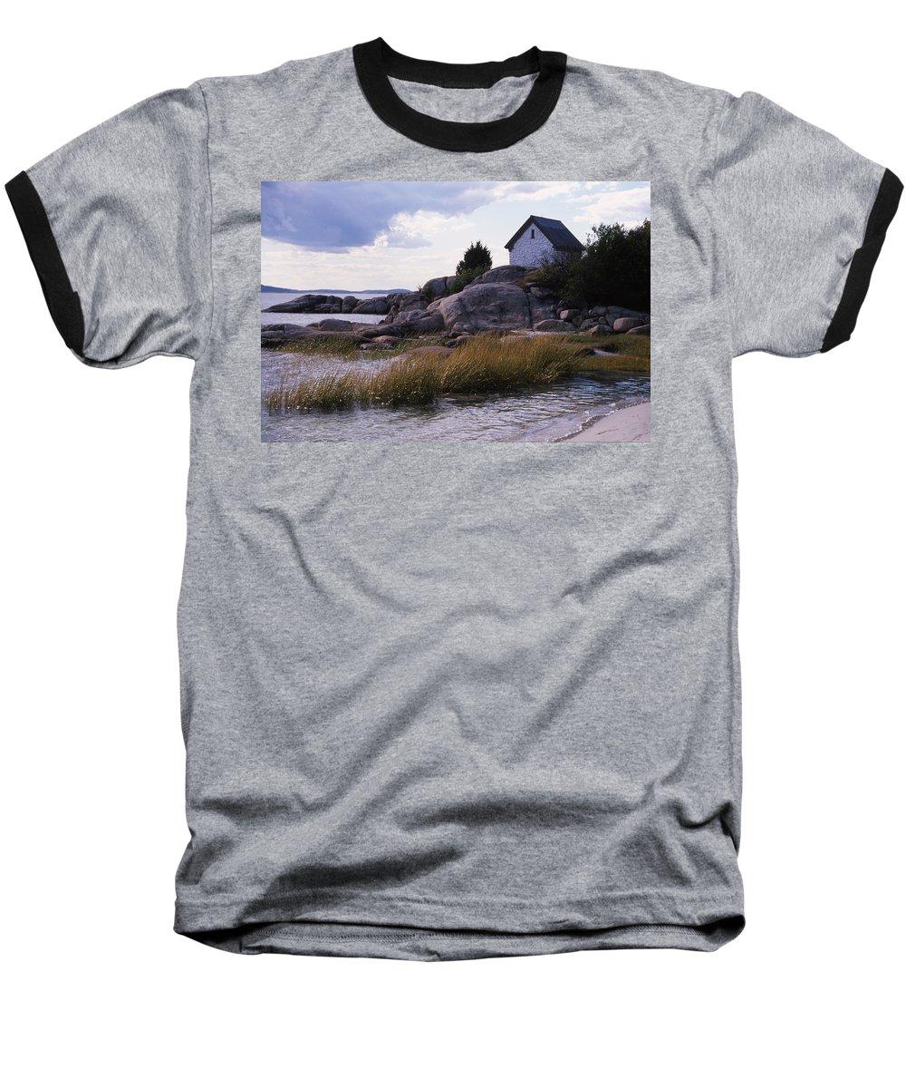 Landscape Beach Storm Baseball T-Shirt featuring the photograph Cnrf0909 by Henry Butz