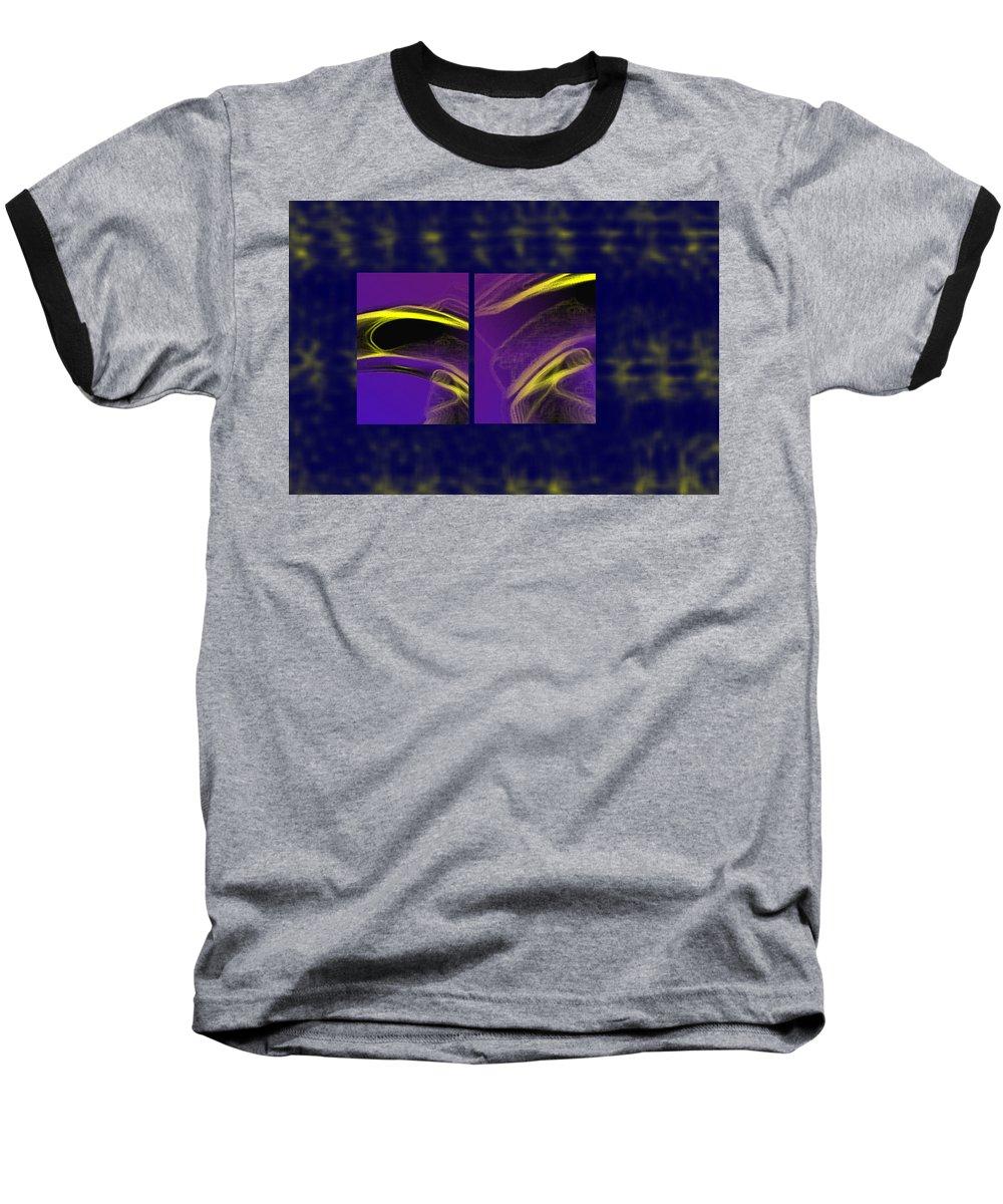 Abstract Baseball T-Shirt featuring the digital art Cobra by Steve Karol