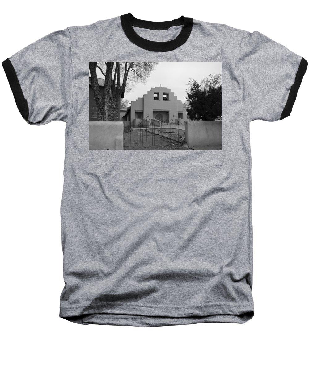 Architecture Baseball T-Shirt featuring the photograph Cochiti Church by Rob Hans