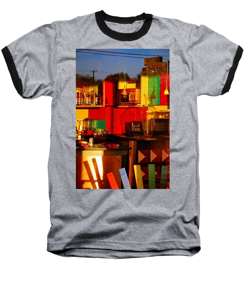 Skip Hunt Baseball T-Shirt featuring the photograph Coffee Shop by Skip Hunt