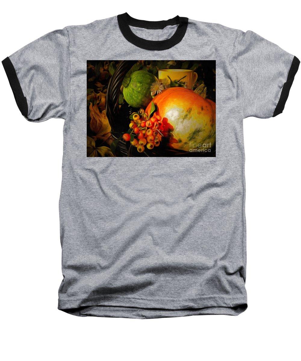 Collage Lit In Ambiance Baseball T-Shirt featuring the painting Collage LIT In Ambiance by Catherine Lott