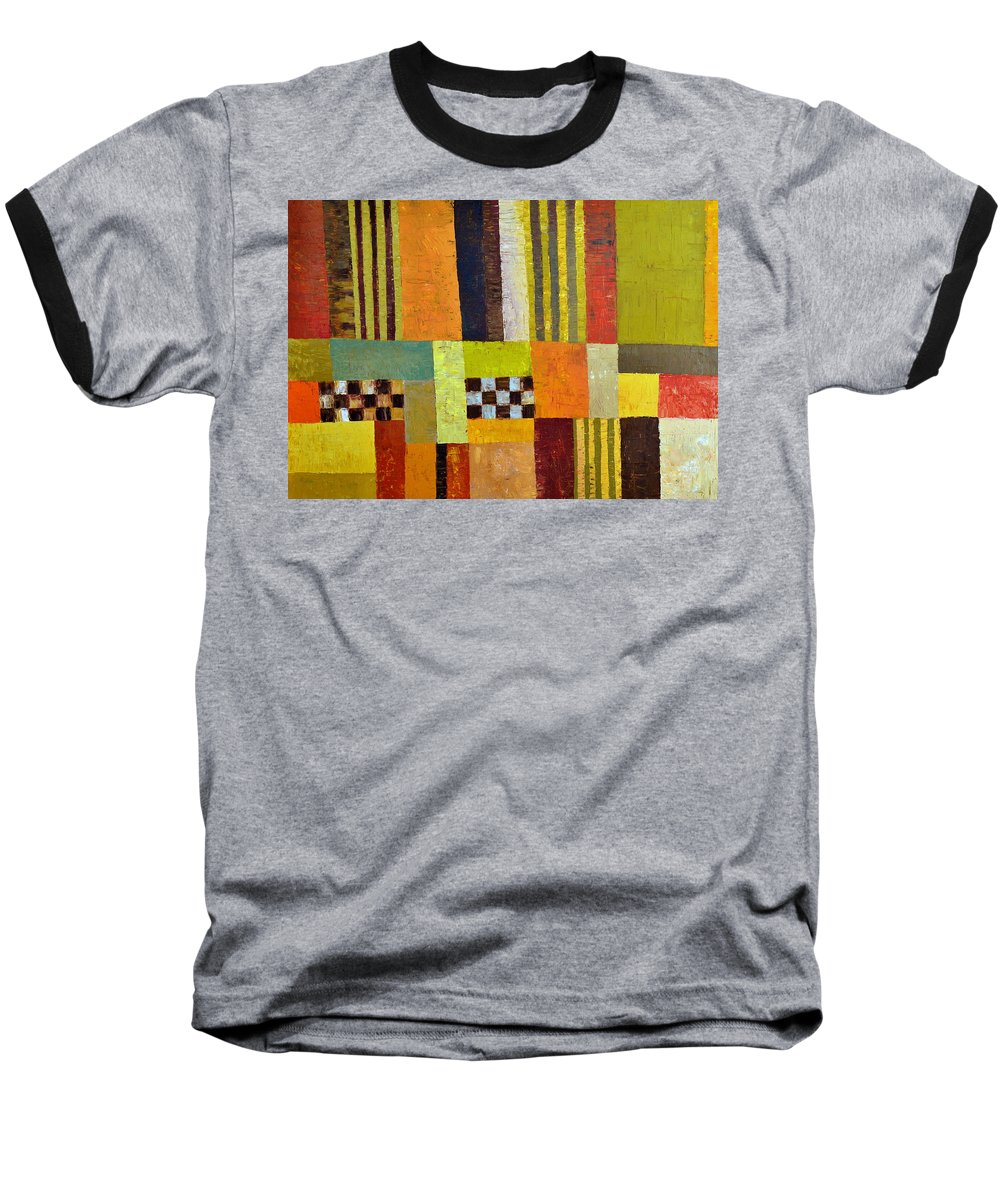 Colorful Baseball T-Shirt featuring the painting Color And Pattern Abstract by Michelle Calkins