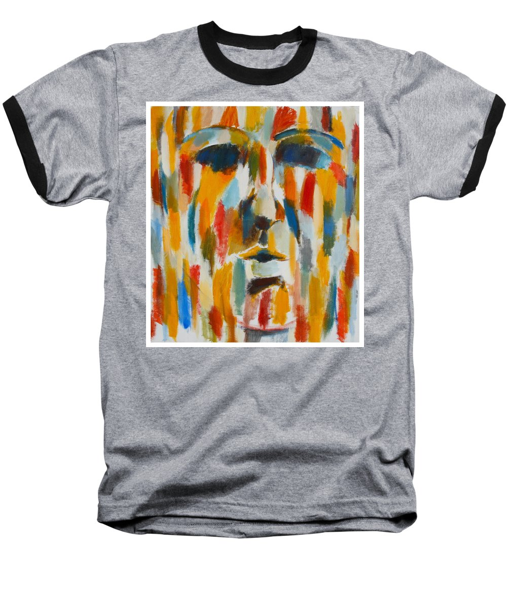 Yellow Baseball T-Shirt featuring the painting Color Blind by Habib Ayat