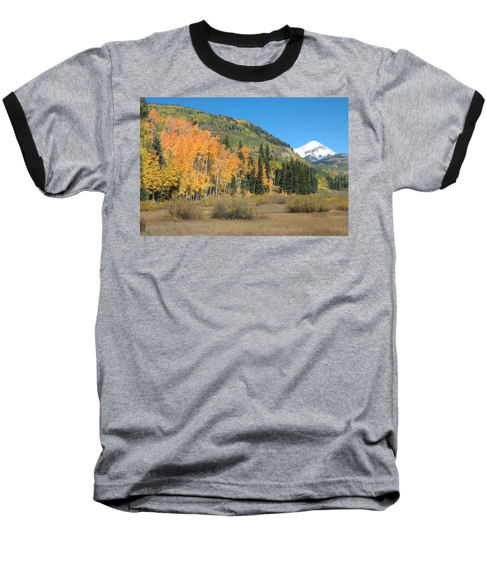 Aspen Baseball T-Shirt featuring the photograph Colorado Gold by Jerry McElroy
