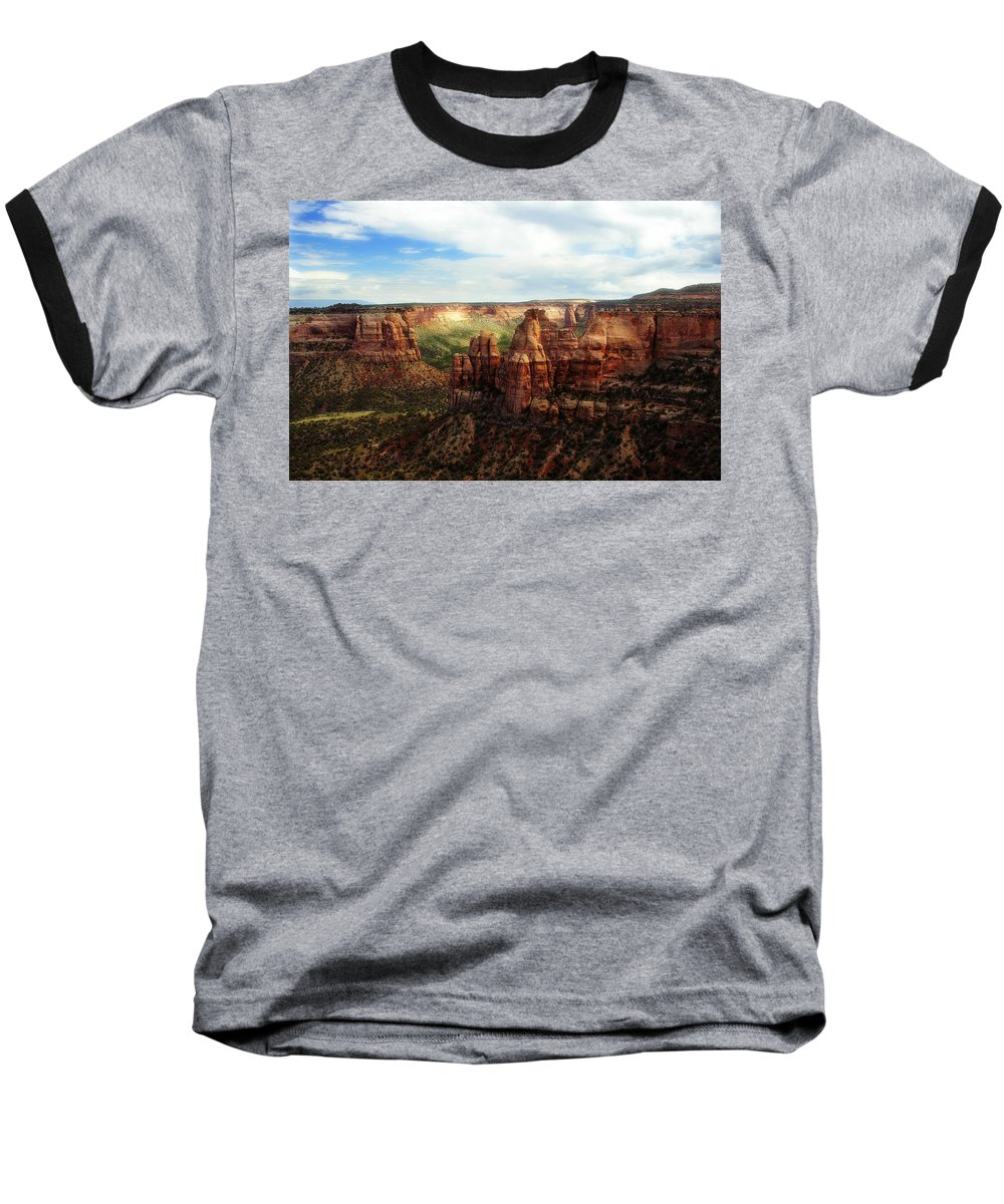 Americana Baseball T-Shirt featuring the photograph Colorado National Monument by Marilyn Hunt