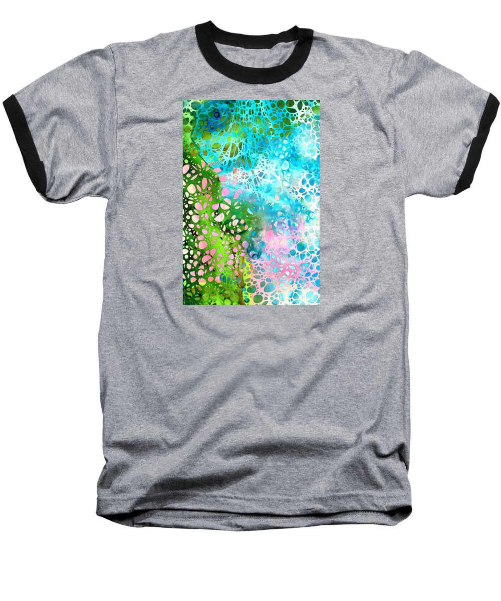 Abstract Landscape Paintings Baseball T-Shirts