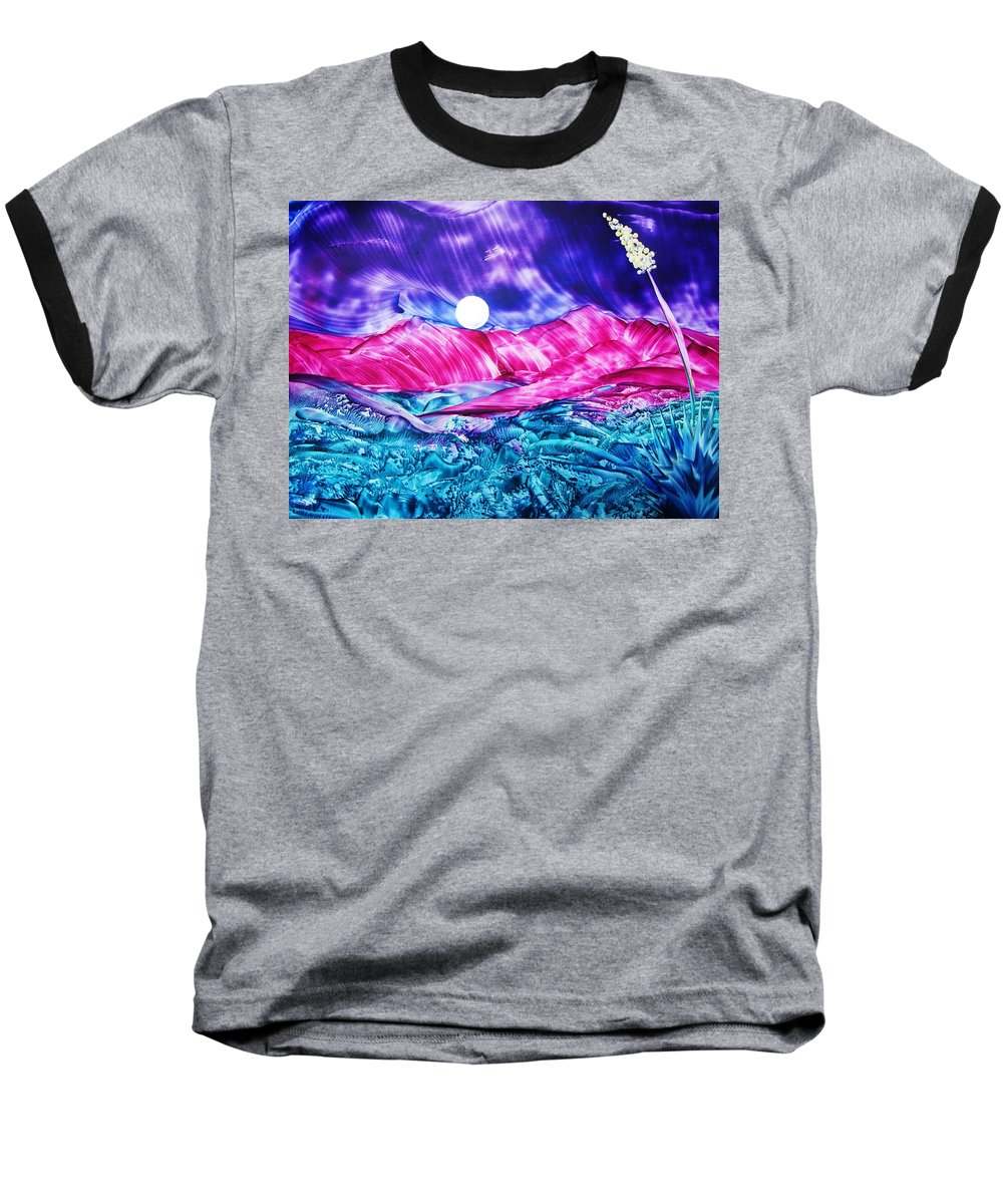 Bold Baseball T-Shirt featuring the print Colorful Desert by Melinda Etzold