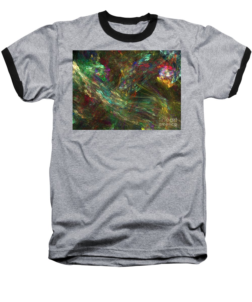 Fractals Baseball T-Shirt featuring the digital art Colors Of Light by Richard Rizzo