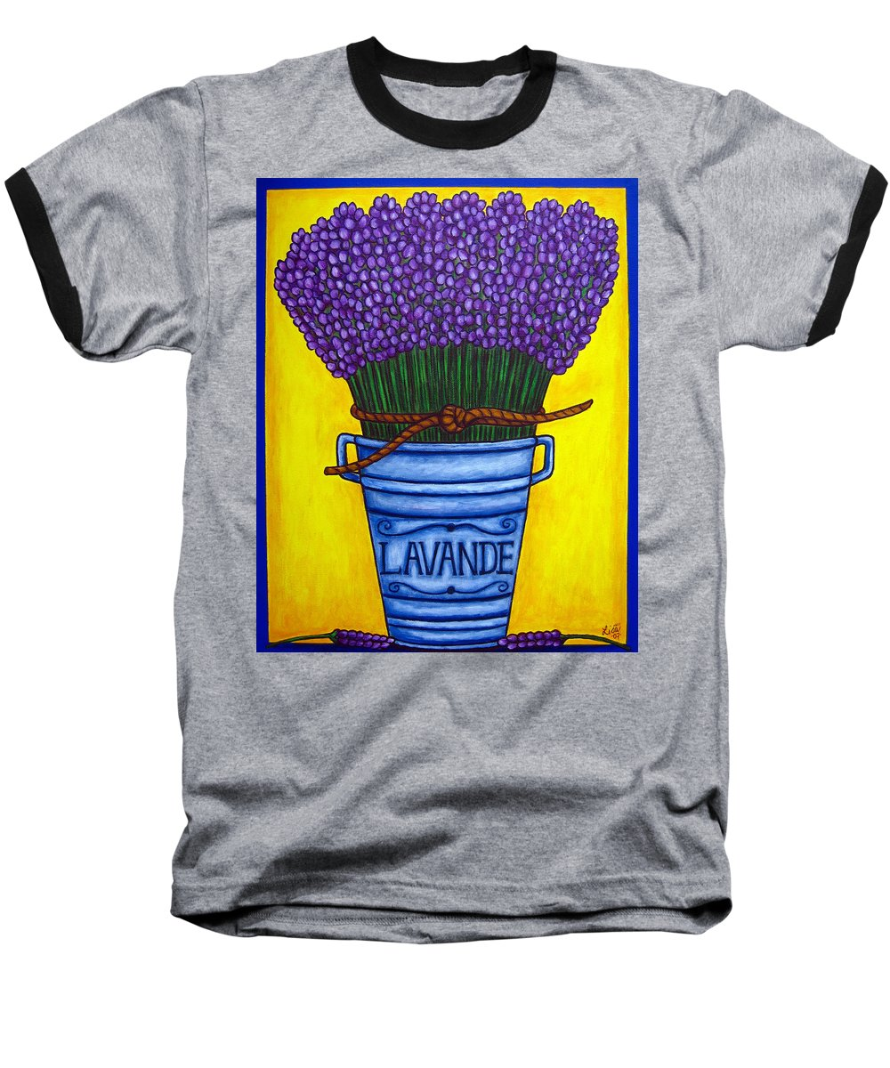Antique Baseball T-Shirt featuring the painting Colours Of Provence by Lisa Lorenz