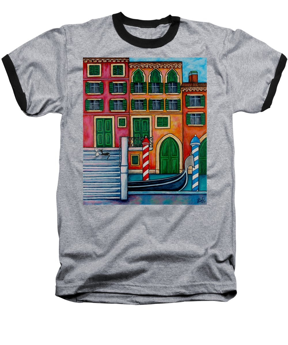 Venice Baseball T-Shirt featuring the painting Colours Of Venice by Lisa Lorenz