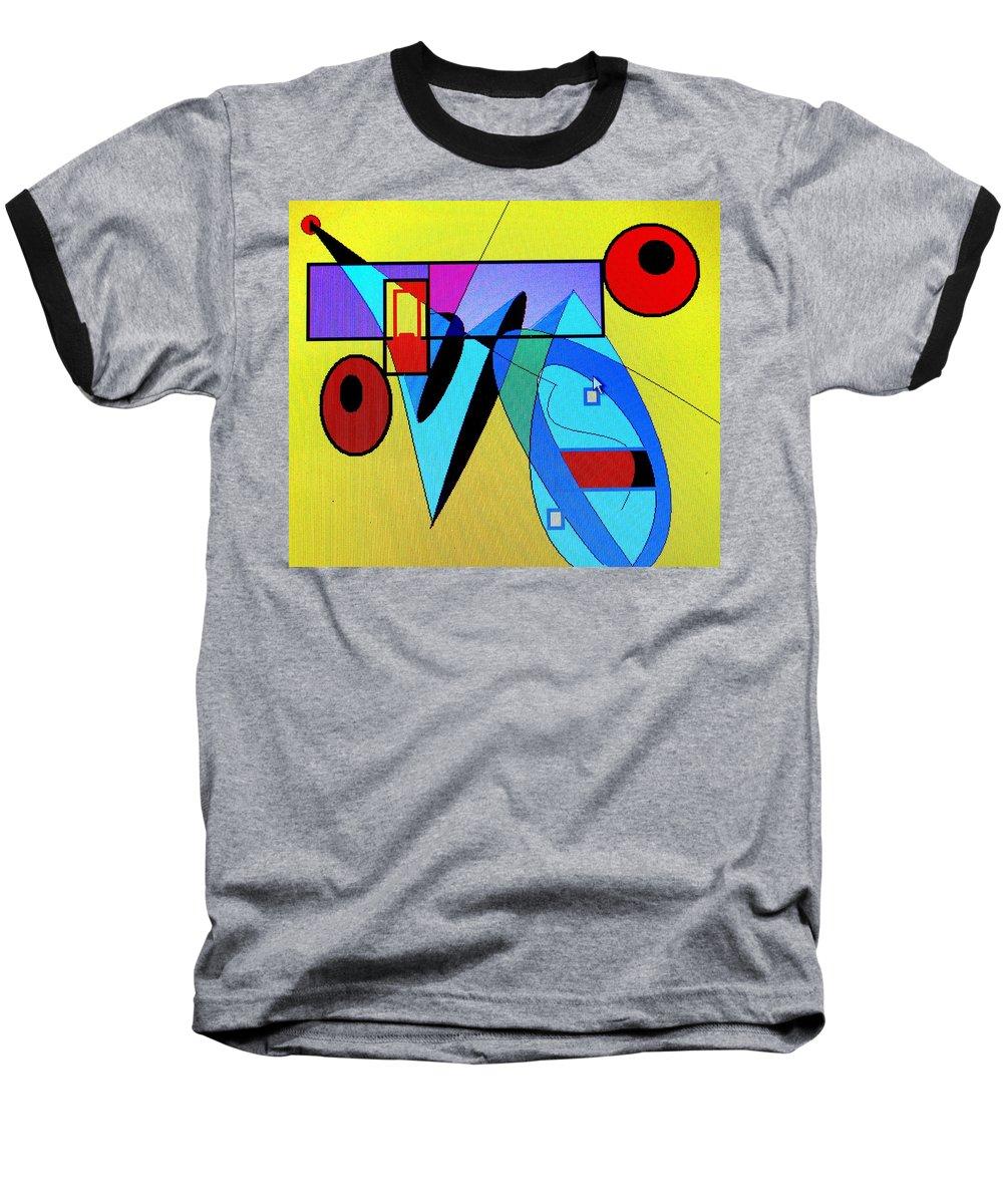 Horn Baseball T-Shirt featuring the digital art Come Blow Your Horn by Ian MacDonald