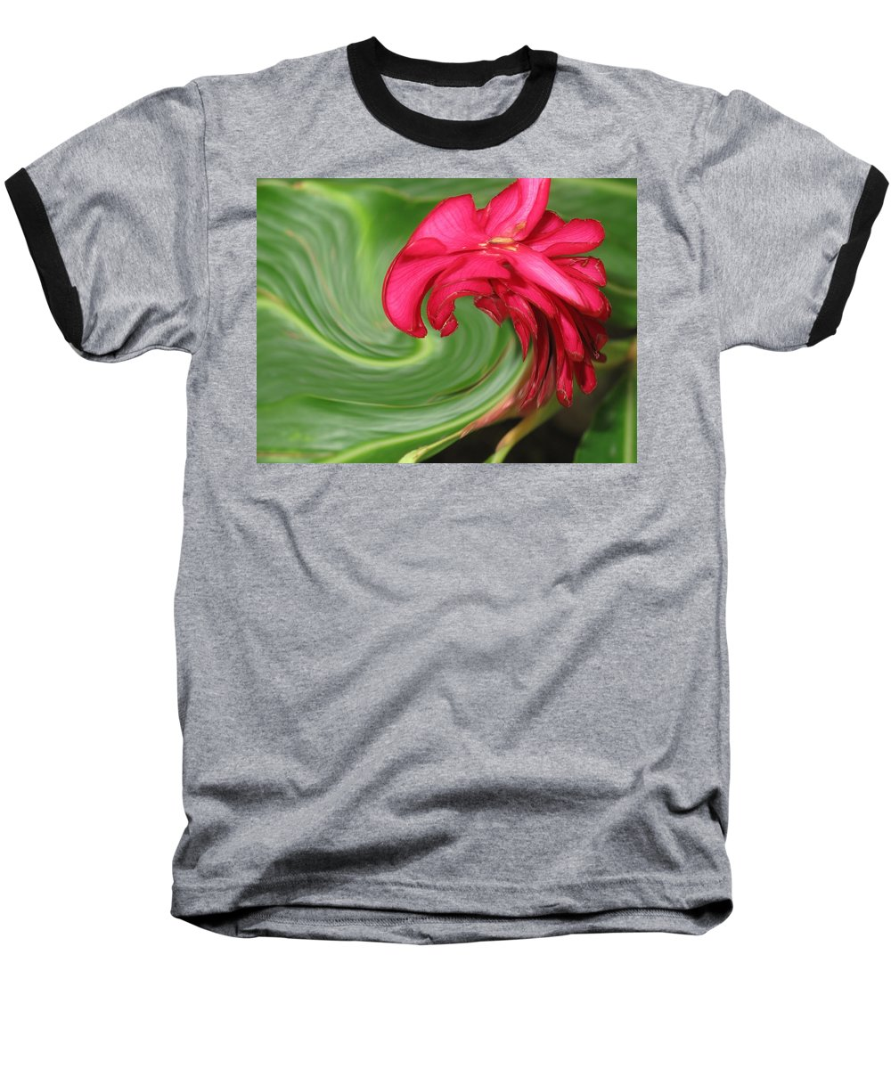 Flower Baseball T-Shirt featuring the photograph Come To Me by Ian MacDonald