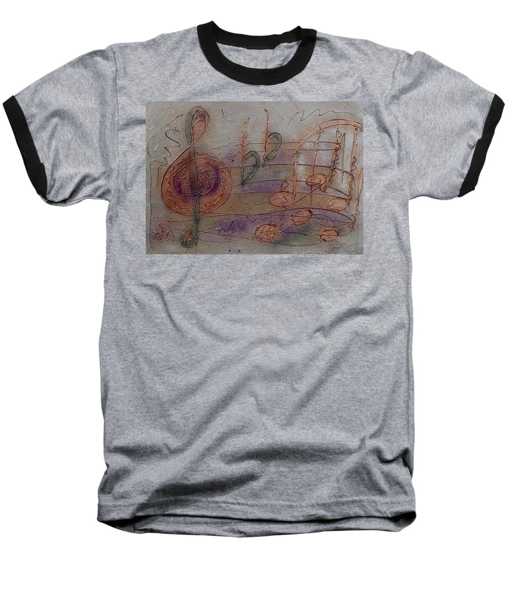 Impressionist Baseball T-Shirt featuring the painting Composition In B Flat by Anita Burgermeister