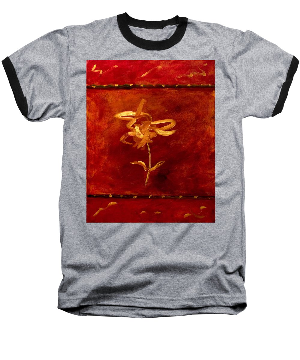 Abstract Baseball T-Shirt featuring the painting Confidence by Shannon Grissom