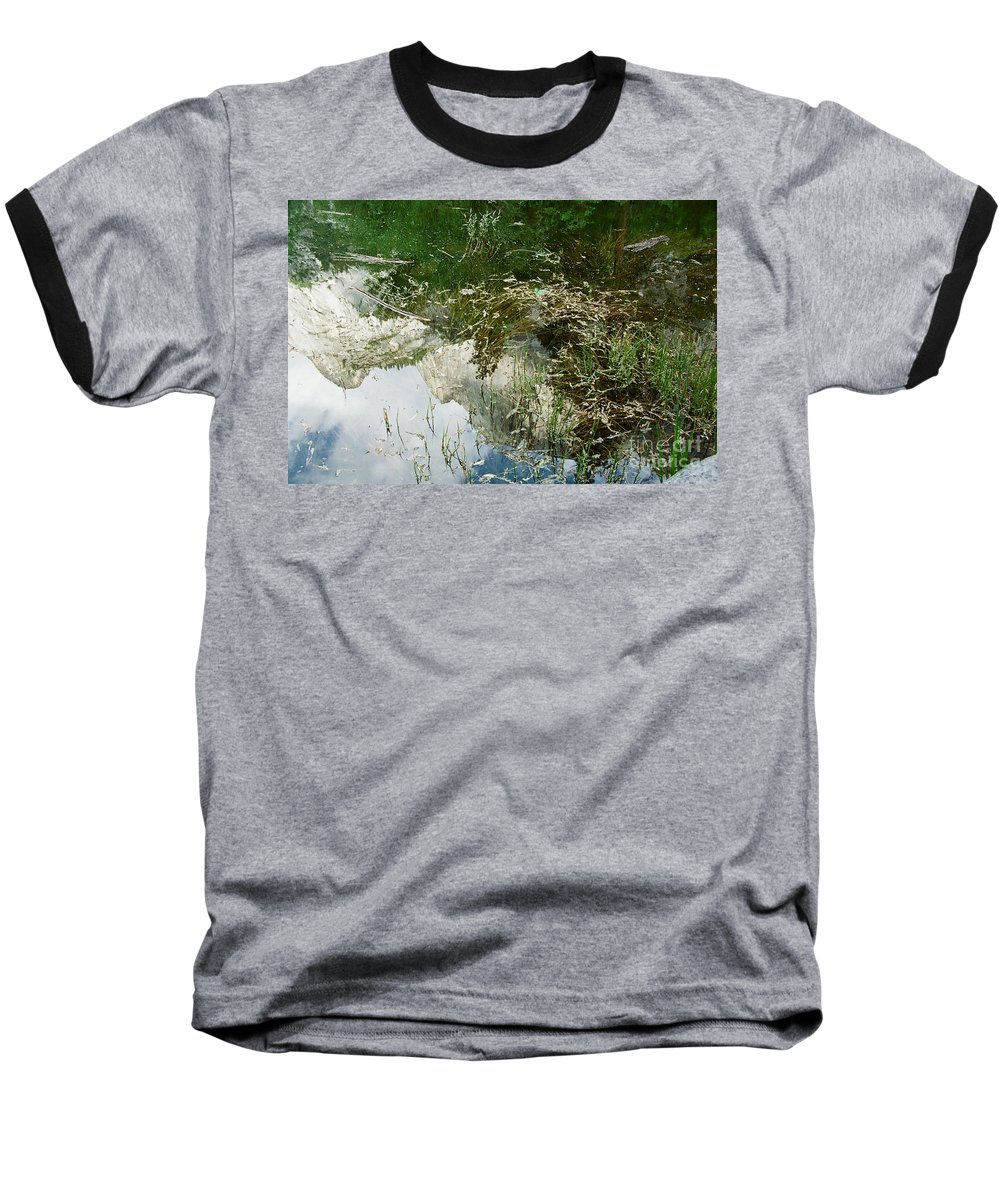 Mirror Lake Baseball T-Shirt featuring the photograph Confusion by Kathy McClure