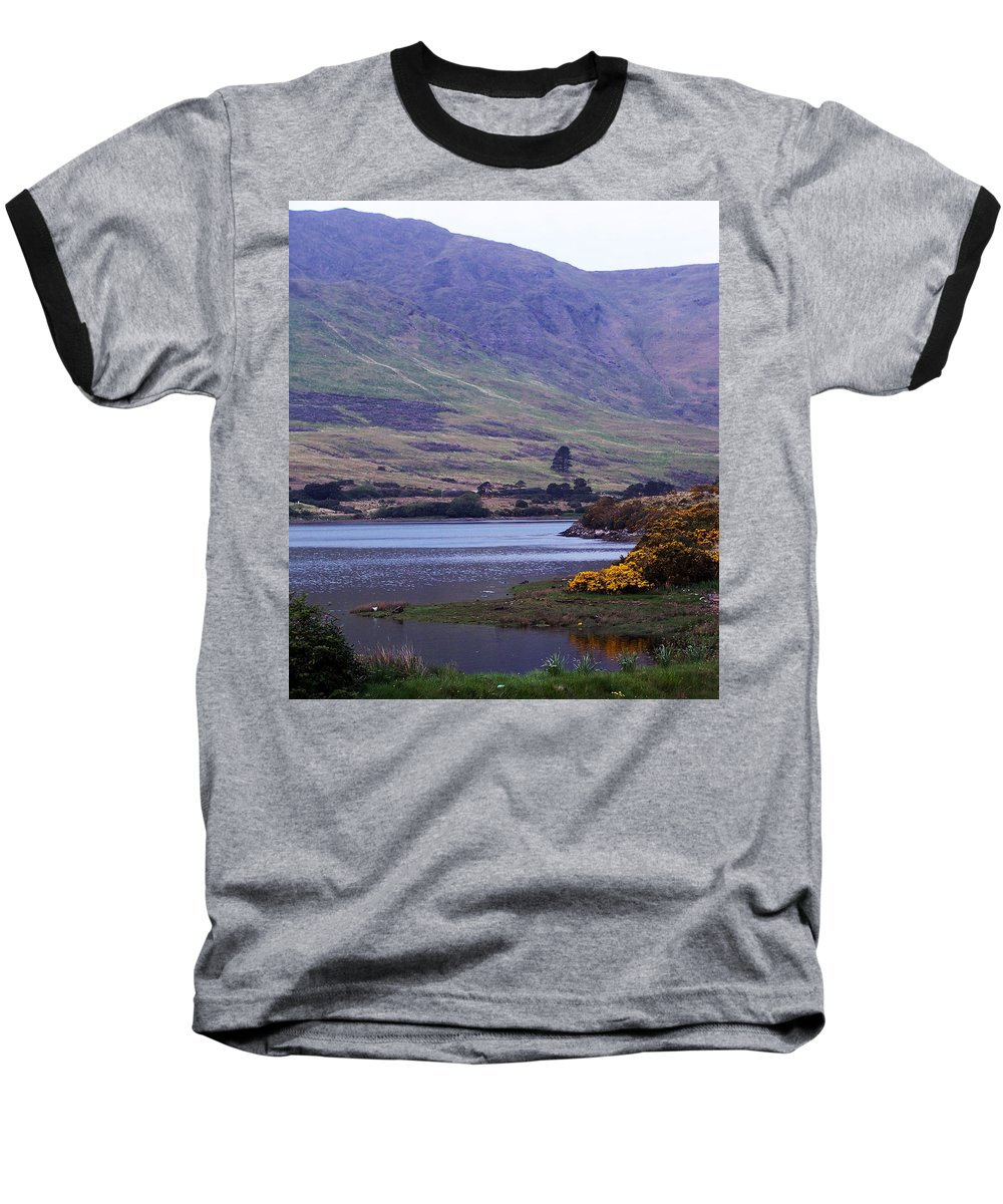 Landscape Baseball T-Shirt featuring the photograph Connemara Leenane Ireland by Teresa Mucha