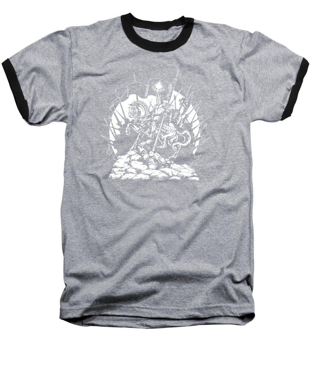 Heavy Metal Drawings Baseball T-Shirts