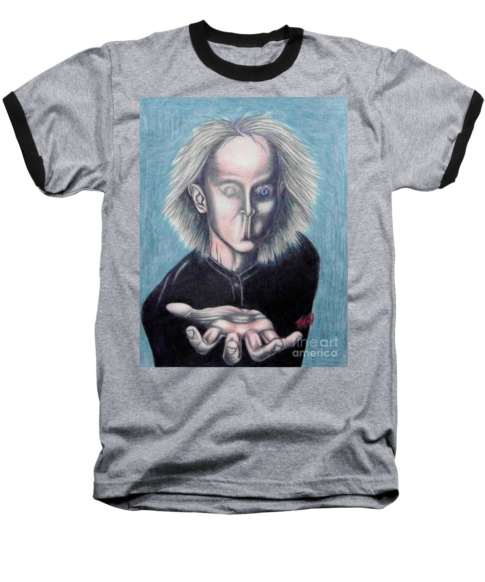 Tmad Baseball T-Shirt featuring the drawing Consciousness by Michael TMAD Finney