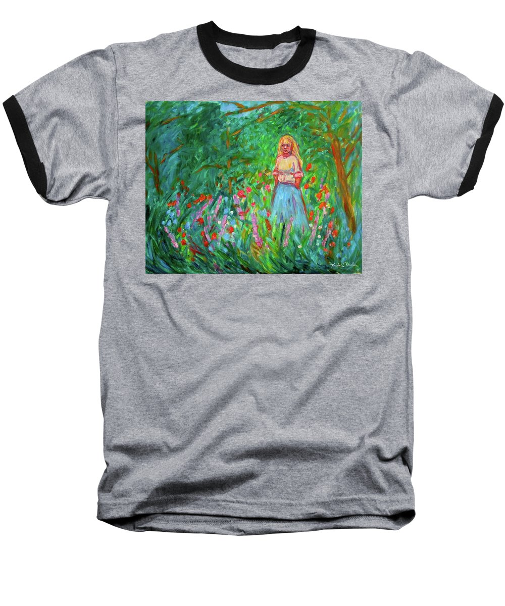 Landscape Baseball T-Shirt featuring the painting Contemplation by Kendall Kessler