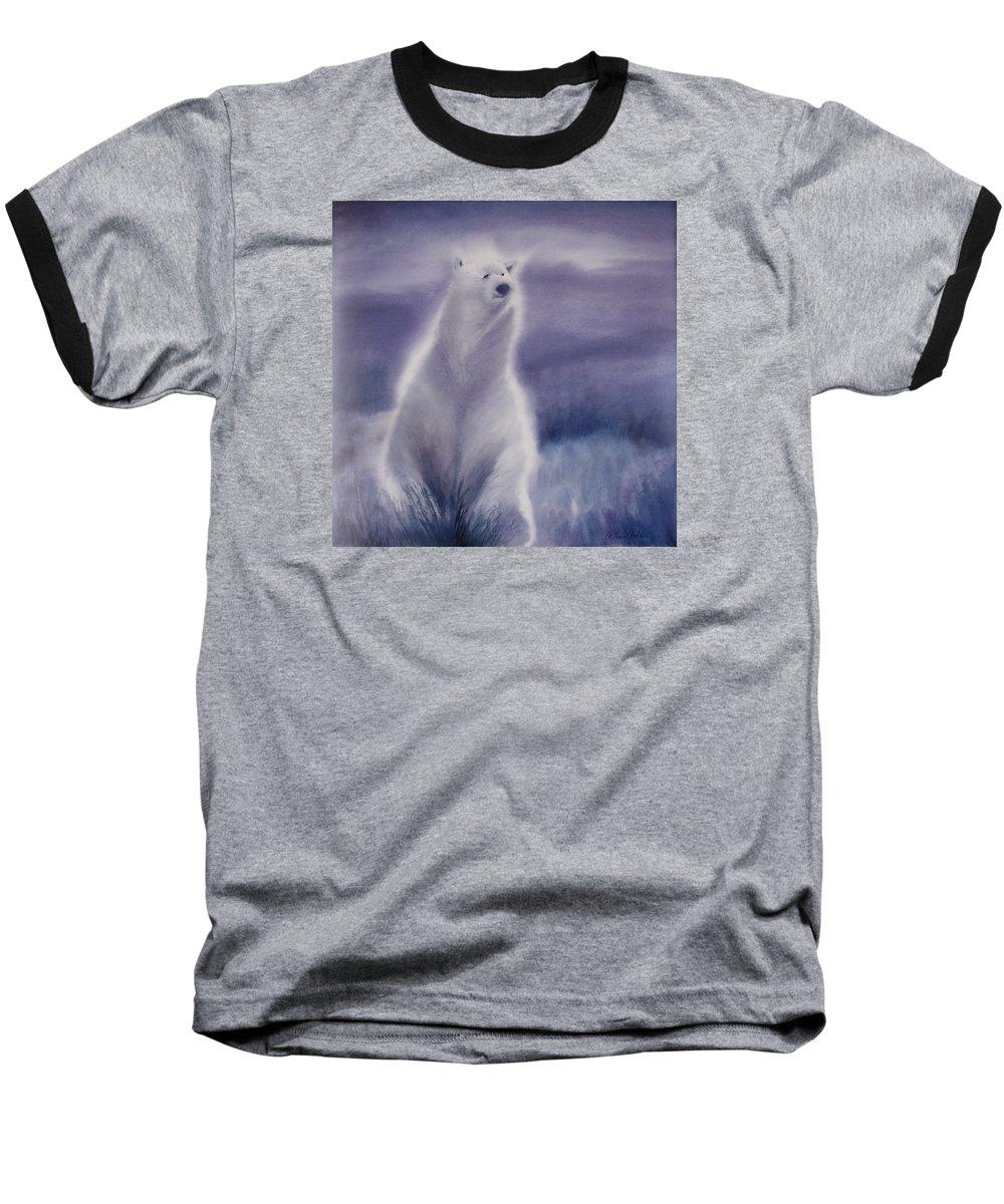 Bear Baseball T-Shirt featuring the painting Cool Bear by Allison Ashton