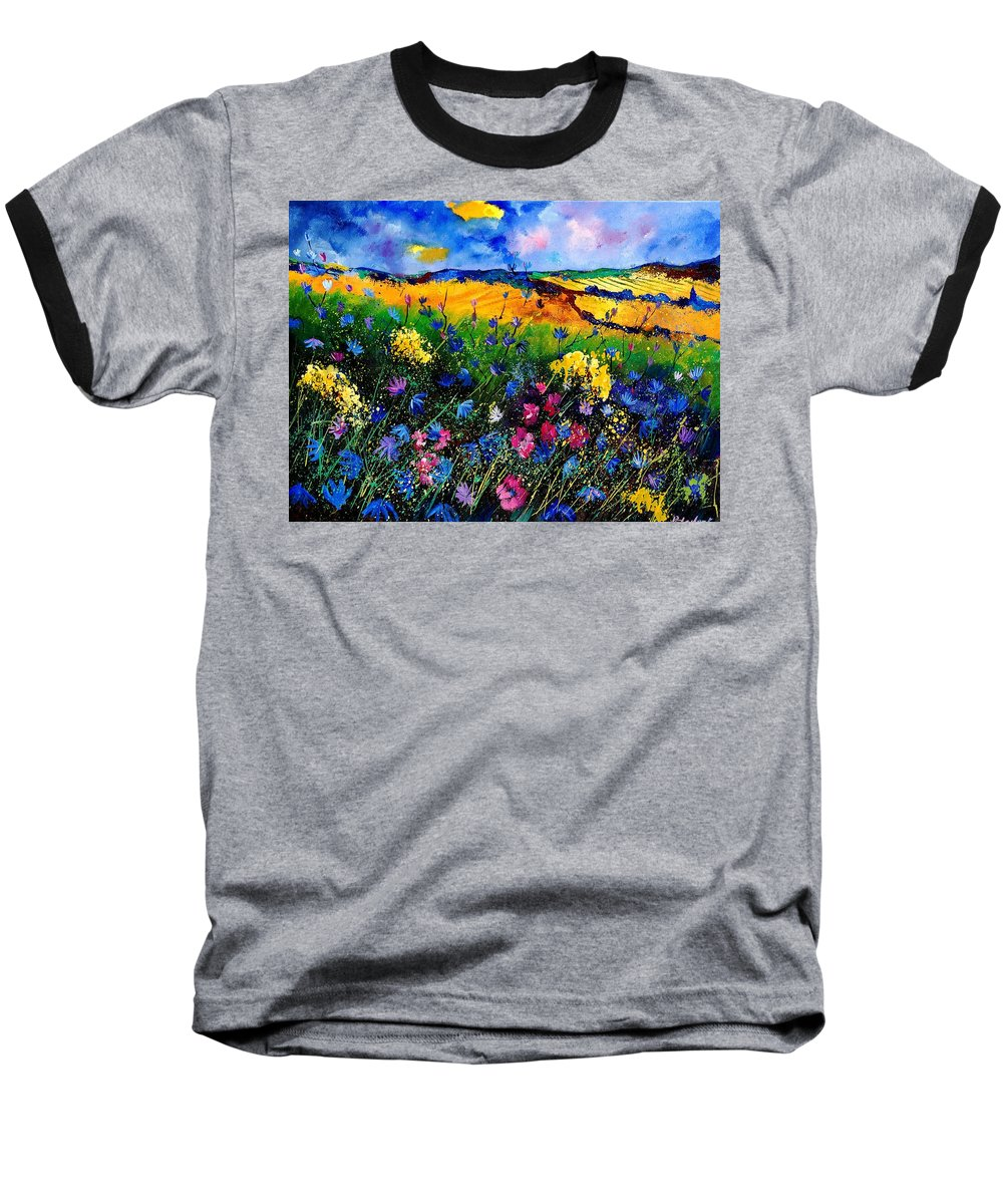 Flowers Baseball T-Shirt featuring the painting Cornflowers 680808 by Pol Ledent