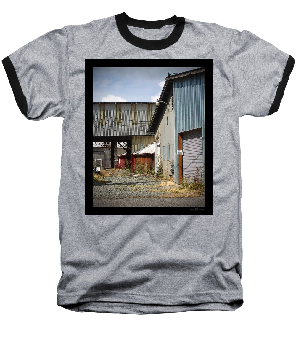 Corrugated Baseball T-Shirt featuring the photograph Corrugated by Tim Nyberg