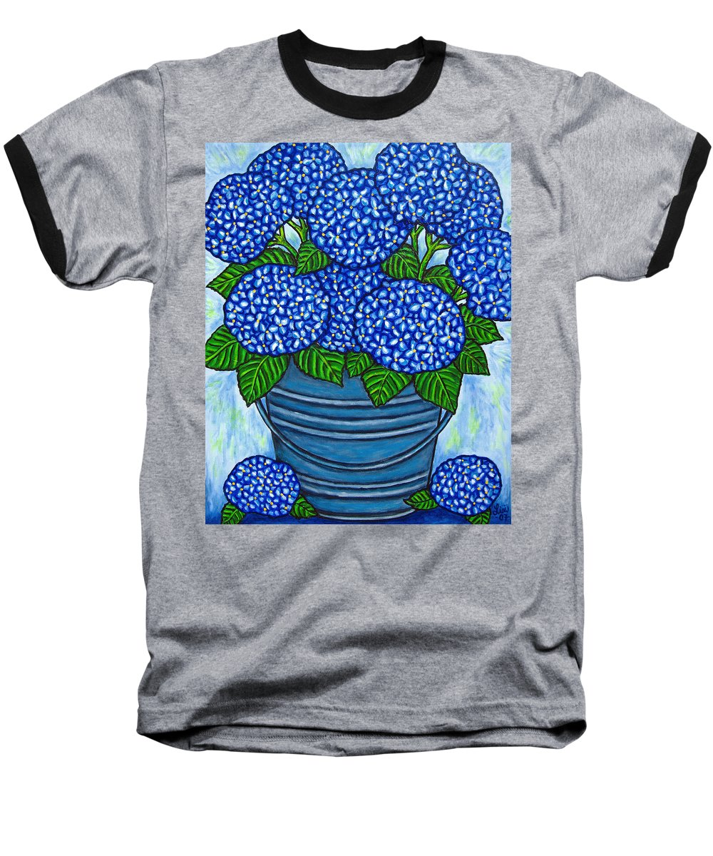 Blue Baseball T-Shirt featuring the painting Country Blues by Lisa Lorenz