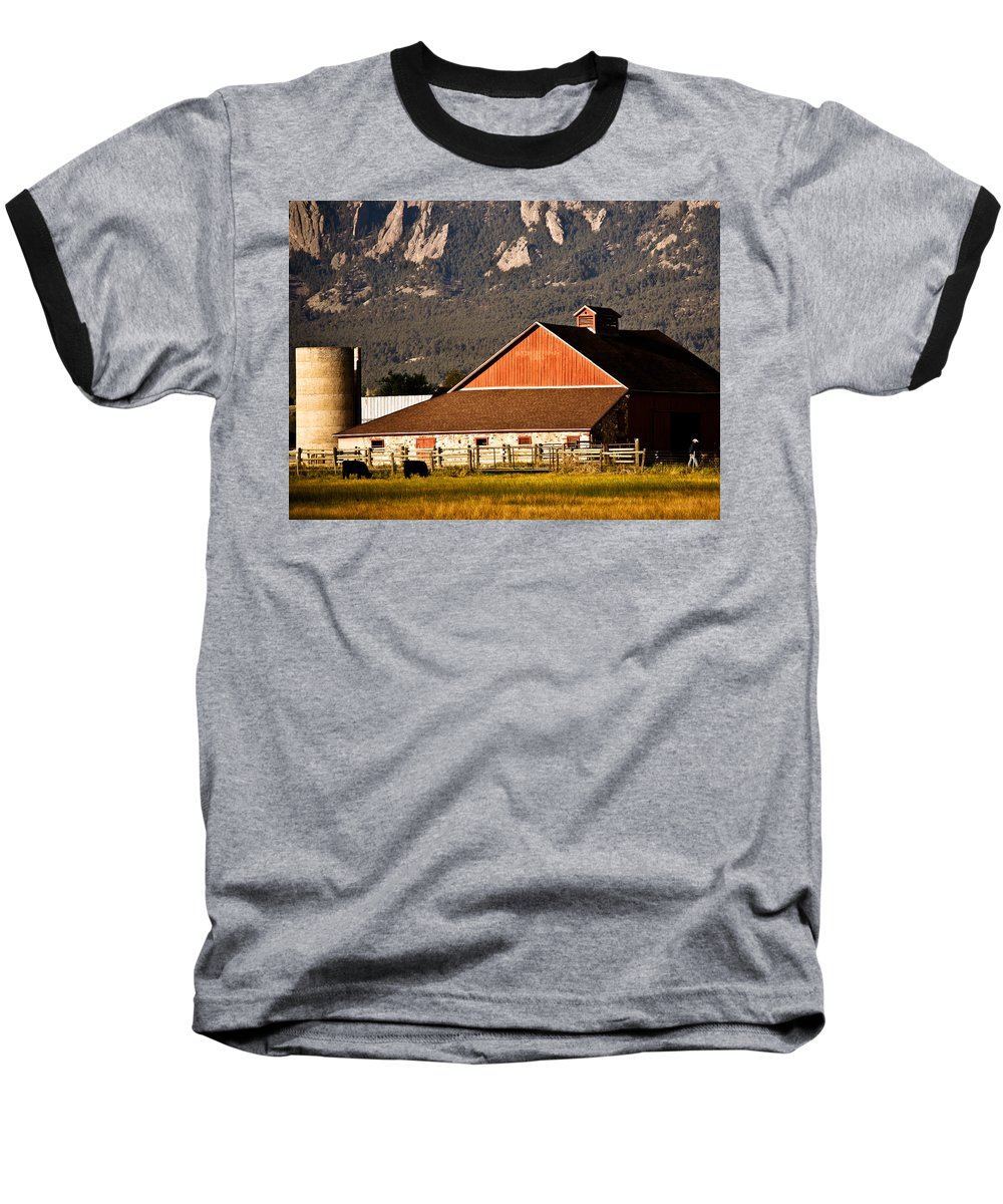 Americana Baseball T-Shirt featuring the photograph Country Living Boulder County by Marilyn Hunt