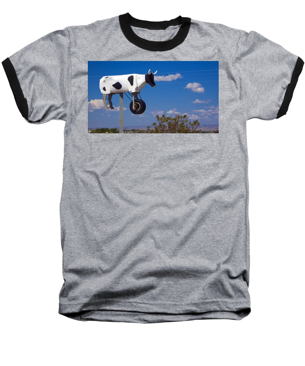 Cow Baseball T-Shirt featuring the photograph Cow Power by Skip Hunt