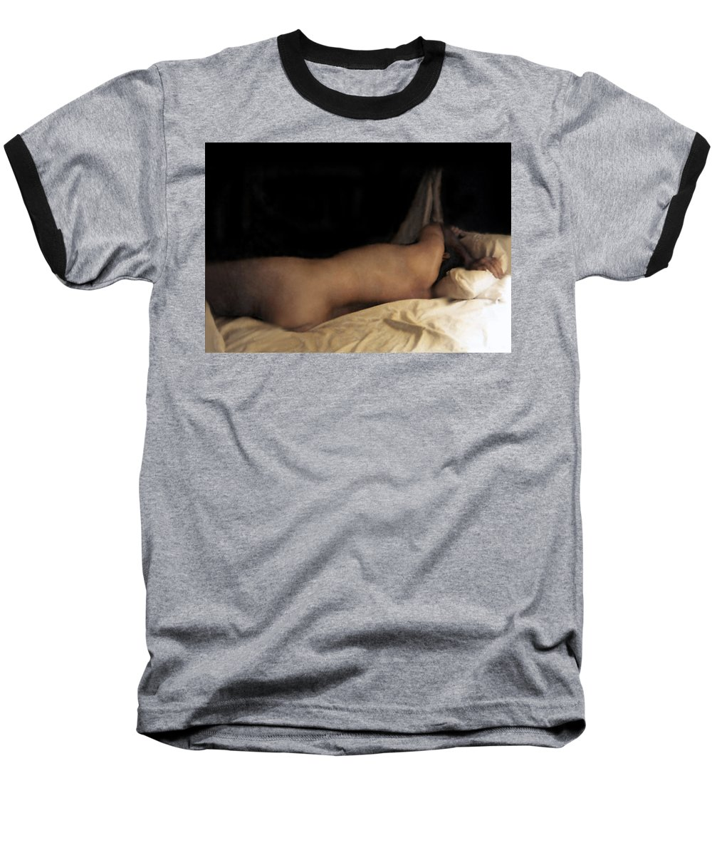 Nude Baseball T-Shirt featuring the photograph Cowboy Dreaming by RC deWinter