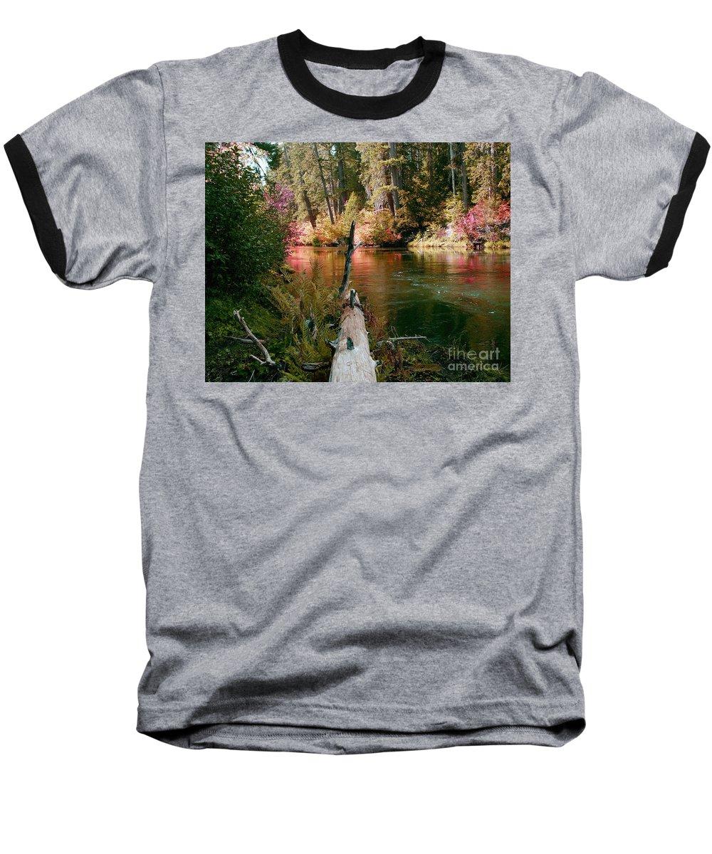 Fall Season Baseball T-Shirt featuring the photograph Creek Fall by Peter Piatt