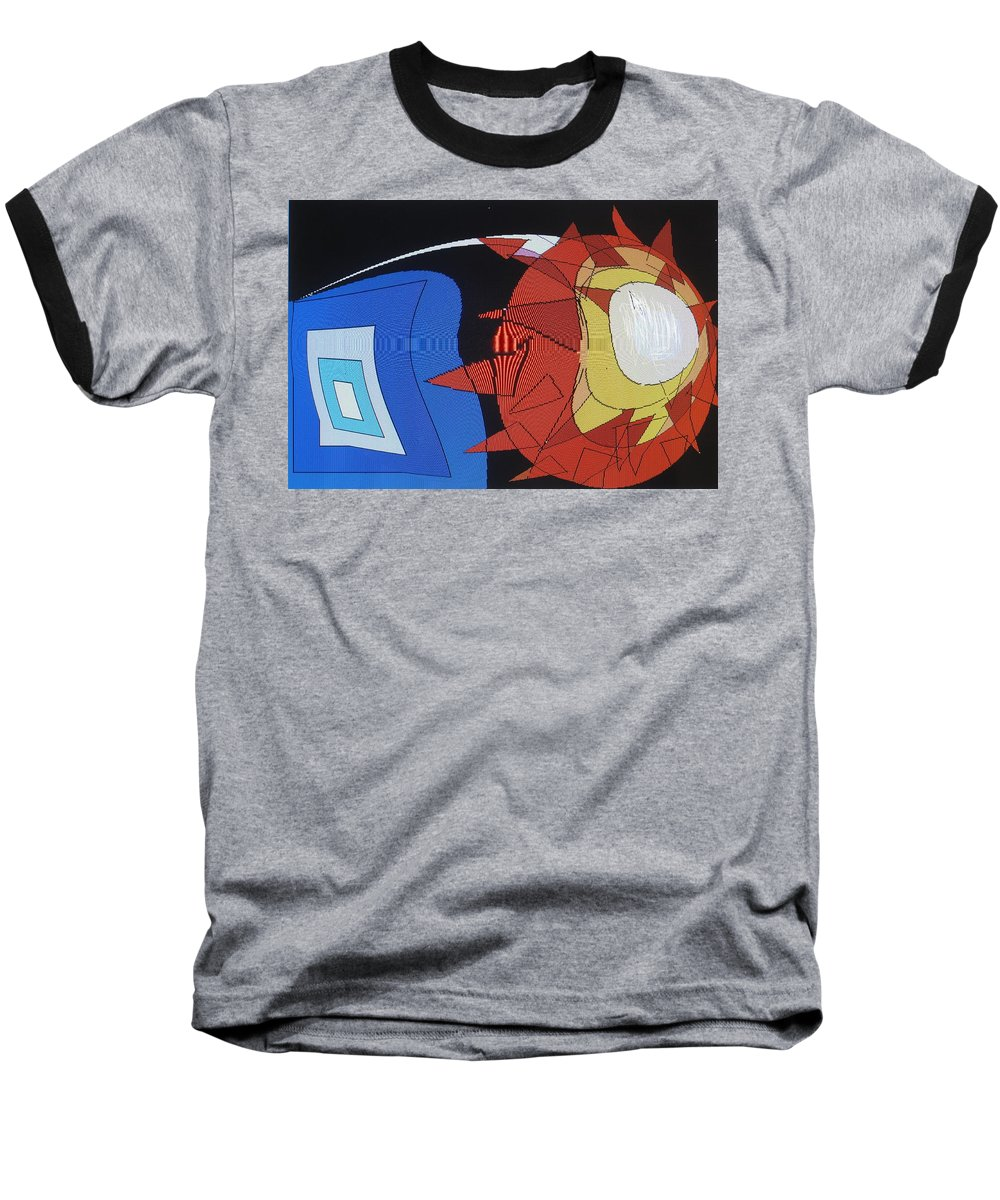 Abstract Baseball T-Shirt featuring the digital art Crescendo One by Ian MacDonald