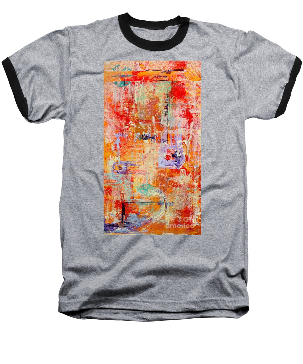 Large Format Painting Baseball T-Shirt featuring the painting Crescendo by Pat Saunders-White