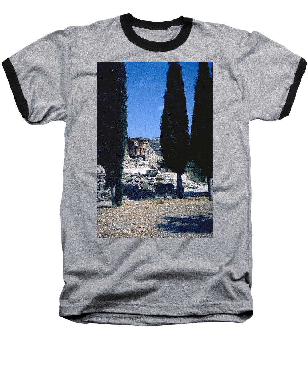 Crete Baseball T-Shirt featuring the photograph Crete by Flavia Westerwelle