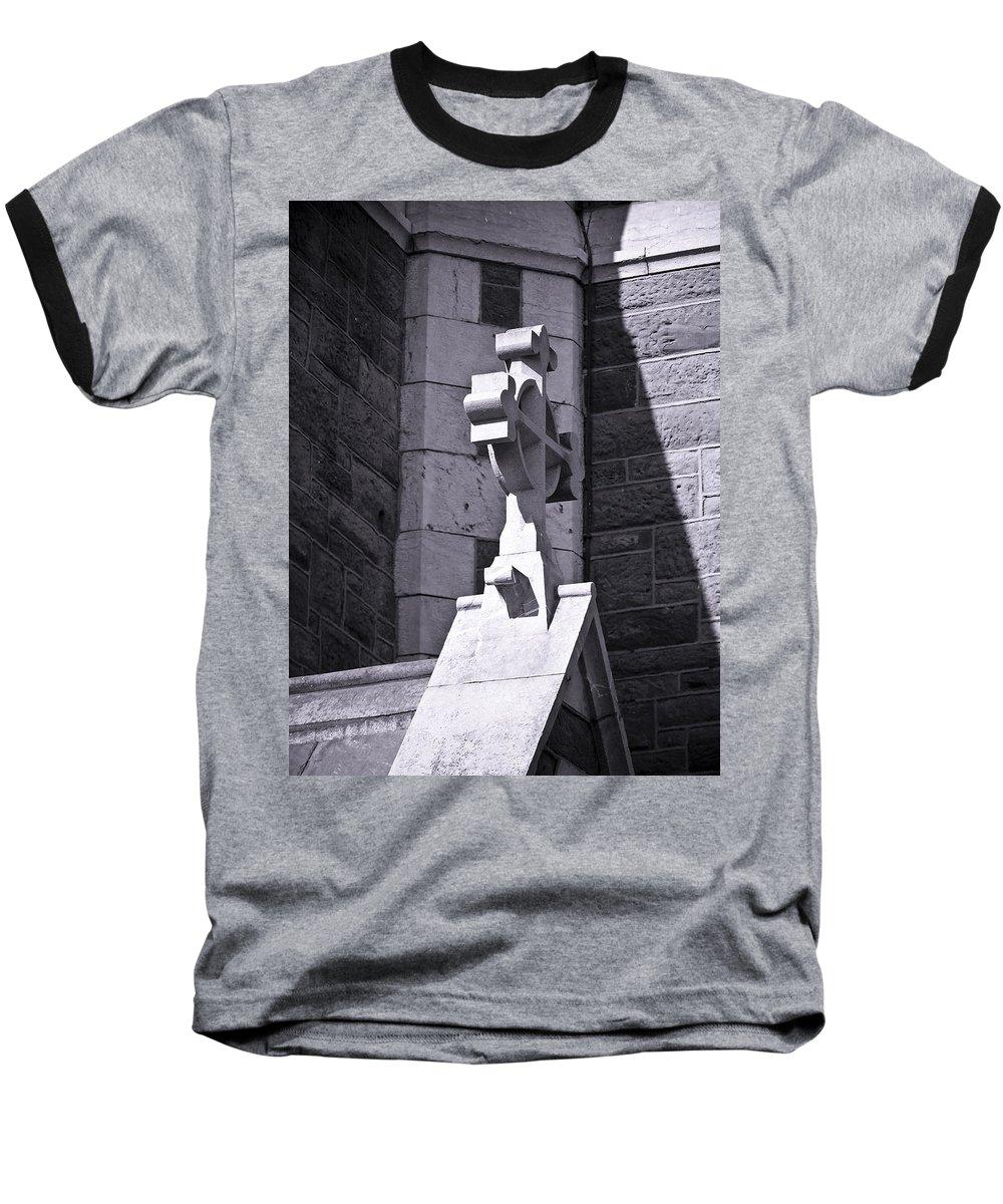 Irish Baseball T-Shirt featuring the photograph Cross At St. Johns Tralee Ireland by Teresa Mucha