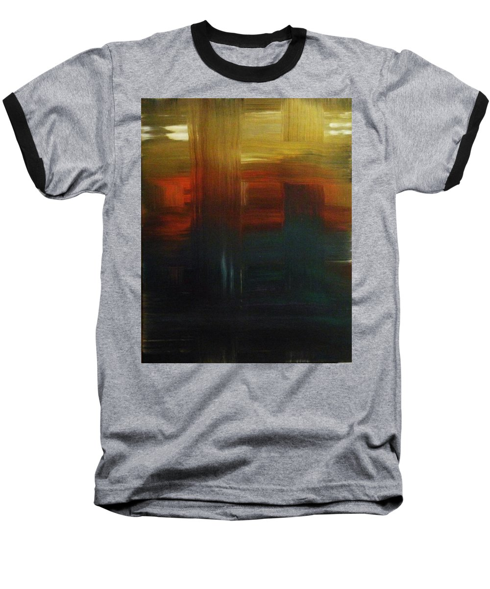 Abstract Baseball T-Shirt featuring the painting Crossroads by Todd Hoover