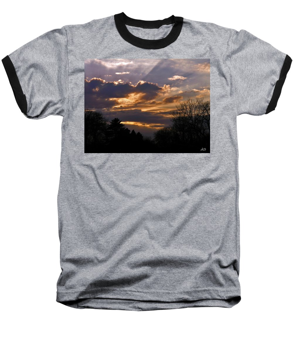 Cloud Baseball T-Shirt featuring the photograph Crown Cloud by Albert Stewart