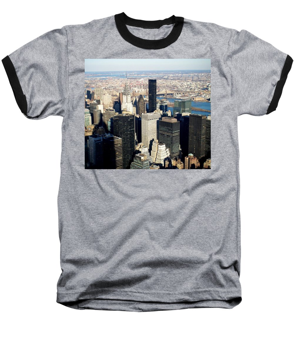 Crystler Building Baseball T-Shirt featuring the photograph Crystler Building 2 by Anita Burgermeister