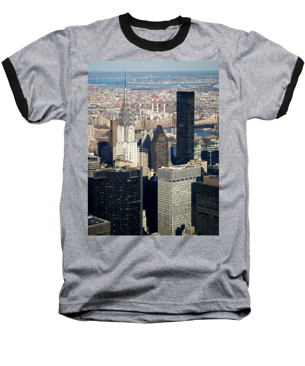 Crystler Building Baseball T-Shirt featuring the photograph Crystler Building by Anita Burgermeister
