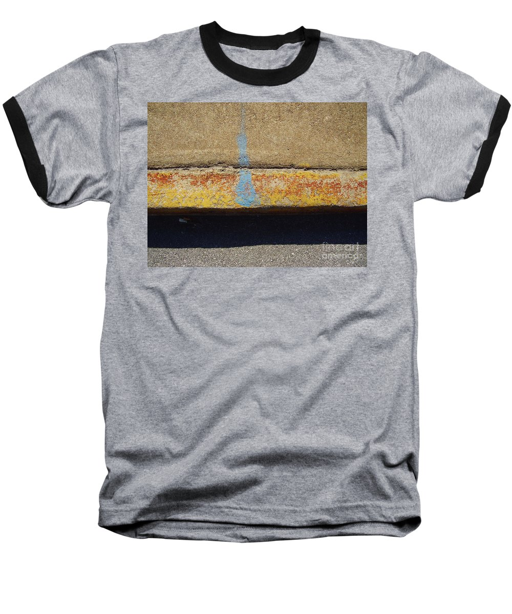 Abstract Baseball T-Shirt featuring the photograph Curb by Flavia Westerwelle