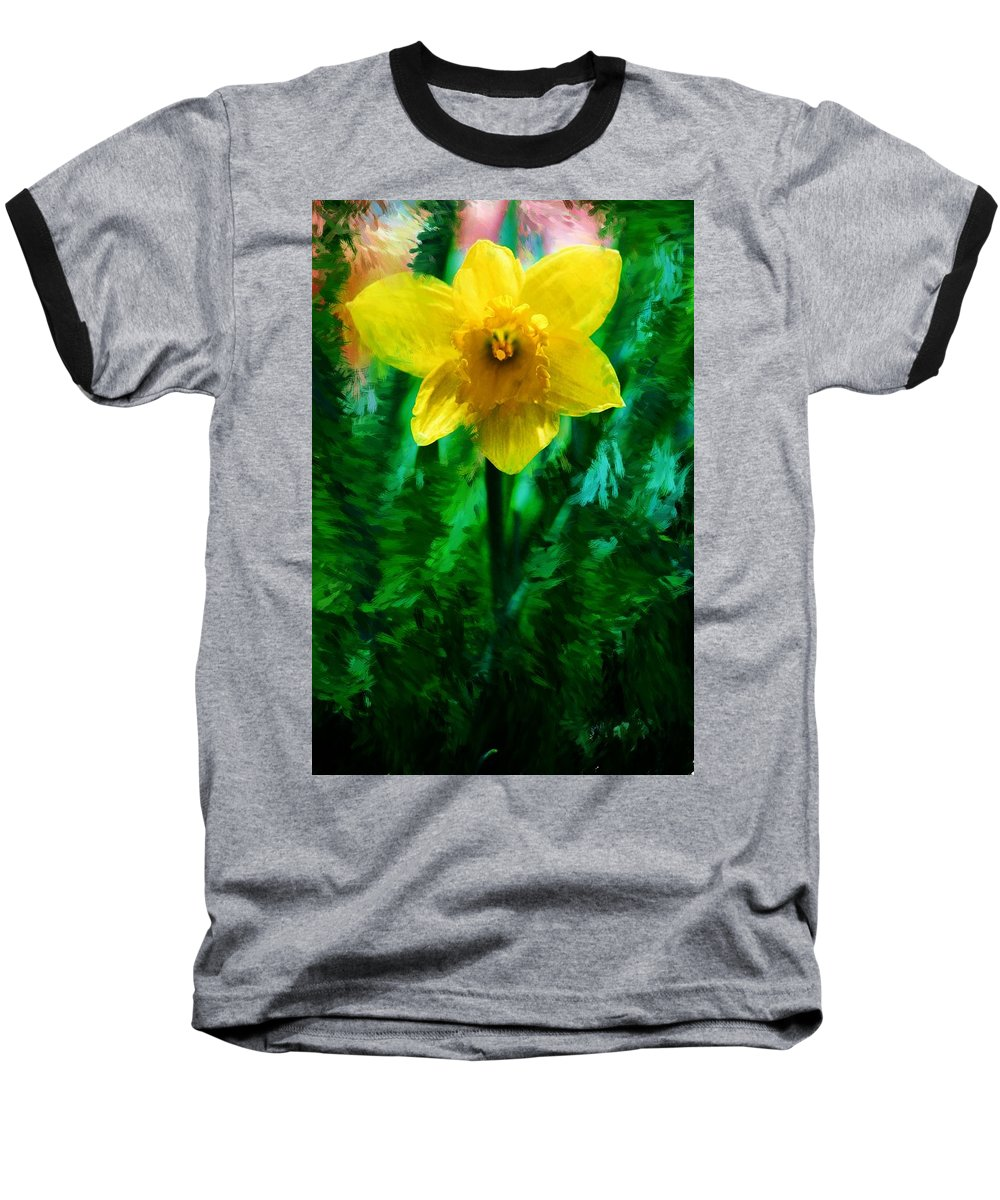Abstract Baseball T-Shirt featuring the photograph Daffy Dill by David Lane