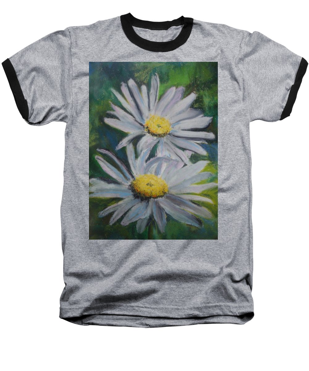 Daisies Baseball T-Shirt featuring the painting Daisies by Melinda Etzold