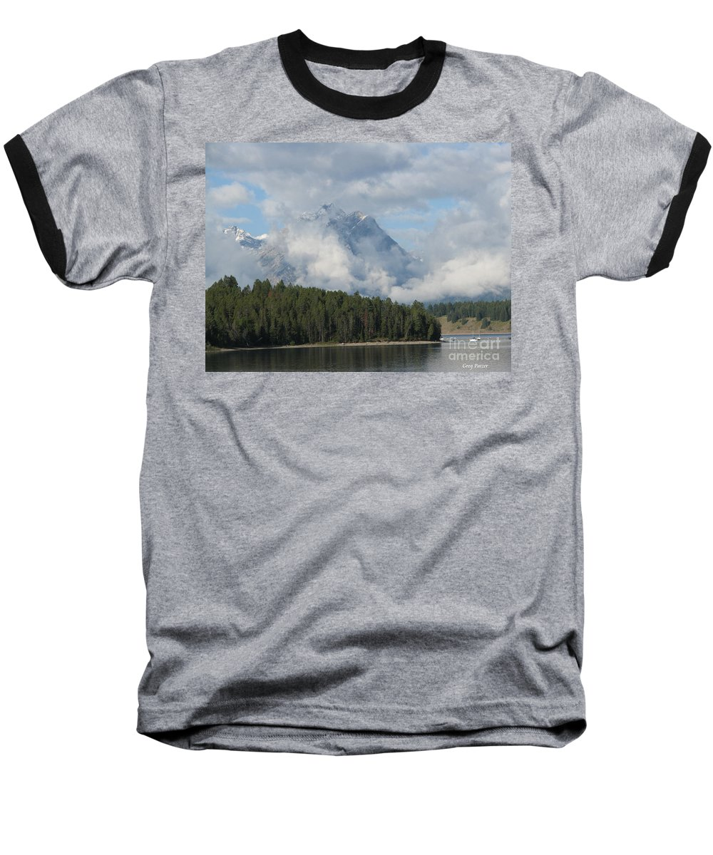 Patzer Baseball T-Shirt featuring the photograph Dam Clouds by Greg Patzer