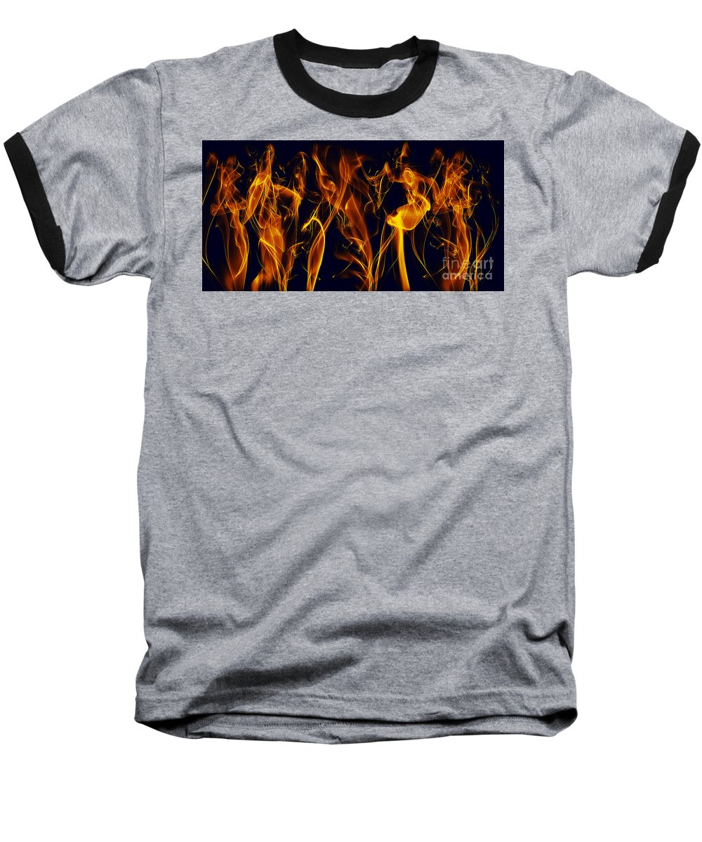 Clay Baseball T-Shirt featuring the digital art Dancing by Clayton Bruster