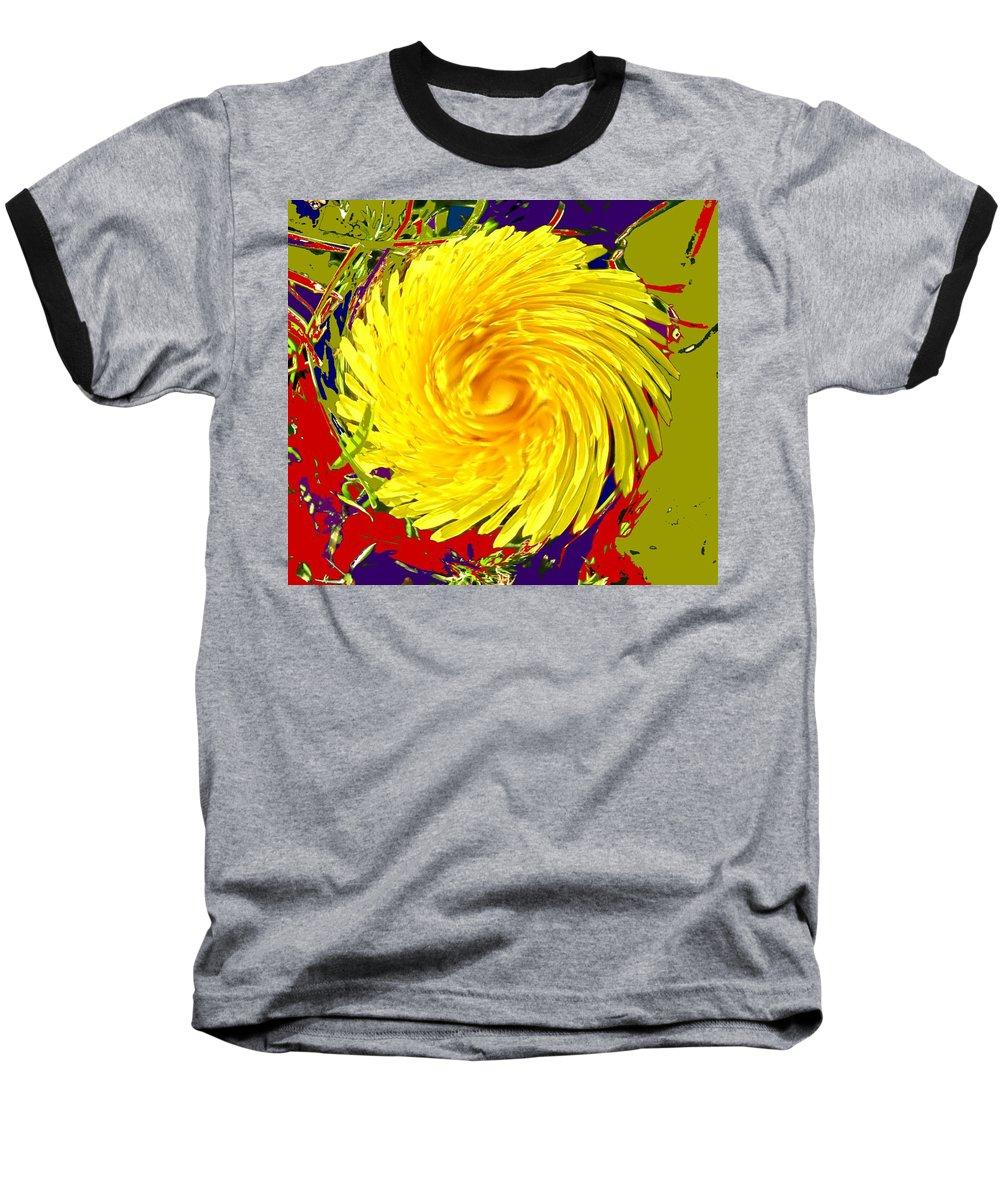 Flower Baseball T-Shirt featuring the photograph Dandy Three by Ian MacDonald