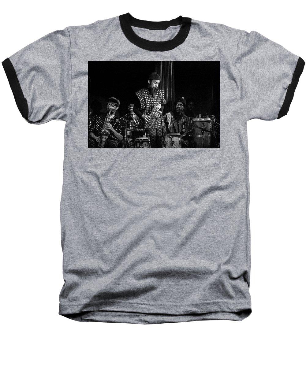Jazz Baseball T-Shirt featuring the photograph Danny Davis With Sun Ra Arkestra by Lee Santa