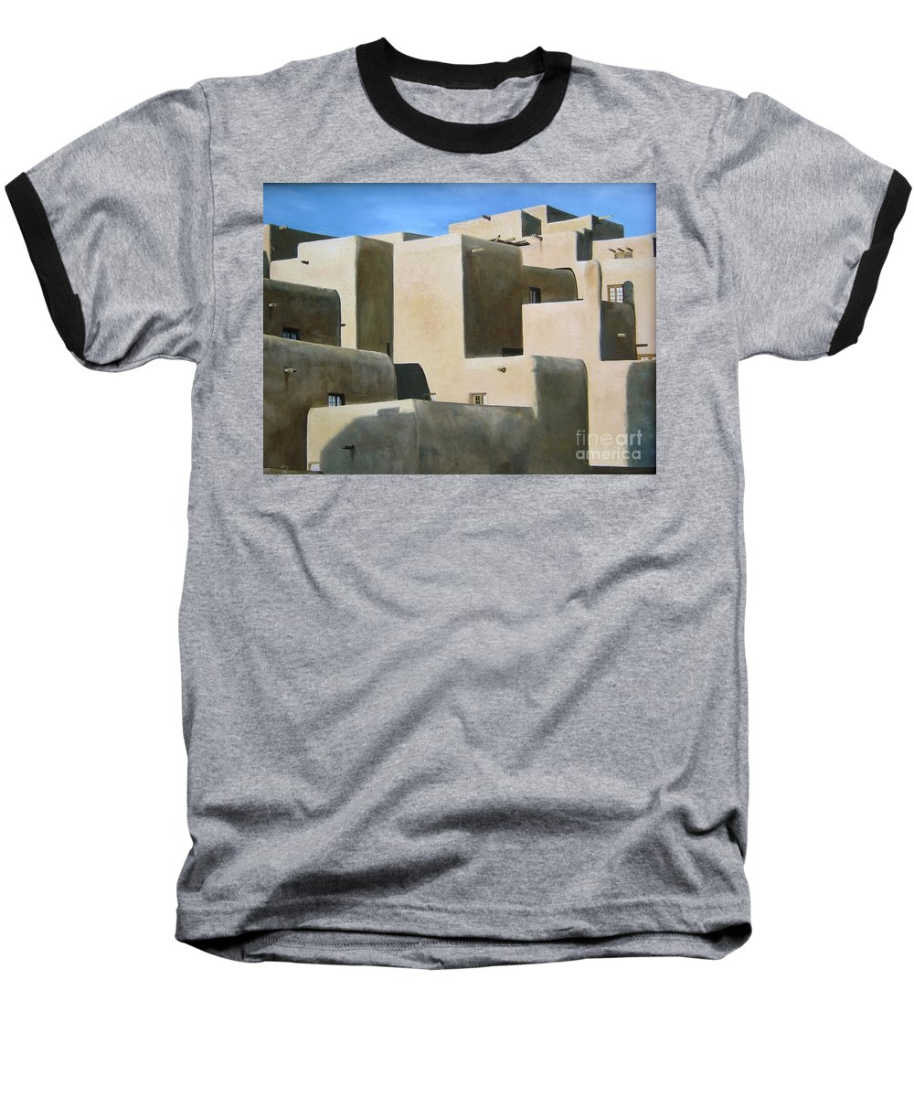 Art Baseball T-Shirt featuring the painting Dark Shadows by Mary Rogers
